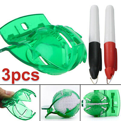2 Pens With Free Golf Ball Marker  Finger Line Drawing Ten Sign Putting Tool • 3.09£