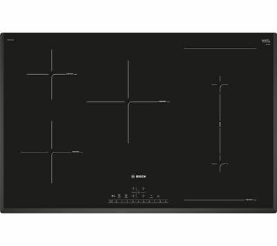 NEW BOSCH PVW851FB1E Electric Induction Hob - Black 80 Cm 5 Zones PowerBoost • 999.99£
