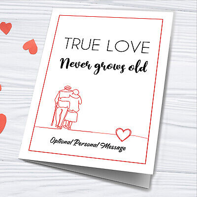 AU18.94 • Buy Personalised Card For Wife Husband Girlfriend Him Valentines Day Boyfriend Her