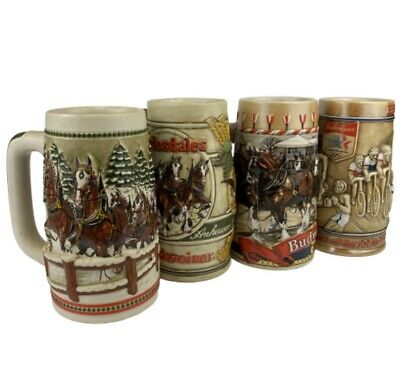 $ CDN112.05 • Buy Vintage Budweiser Stein Collection (Lot Of 4)