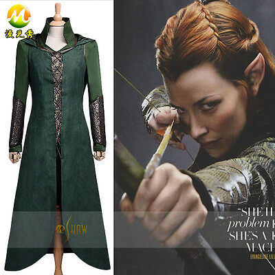 The Hobbit Desolation Of Smaug Tauriel Costume Cosplay Costume Dress • 89.76£