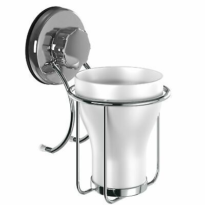 Suction Cup Toothbrush Holder Stainless Steel Toothpaste Razor Holder Bathroom • 11.27£