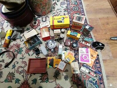 Jot Lot Of Vintage Camera Accessories Flash Bulbs Light Meter Some New Old Stock • 59.99£