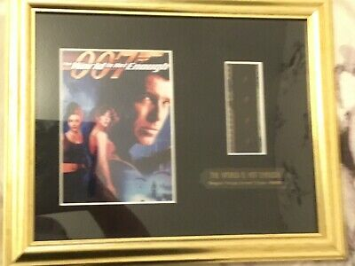 007 The World Is Not Enough Framed Film Cell Limited Edition • 15£