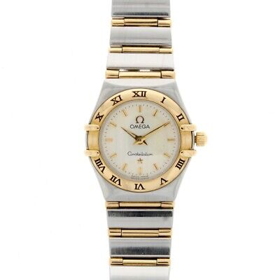 Ladies Omega Constellation Mini 18ct Yellow Gold & Steel 12623000 • 1,450£