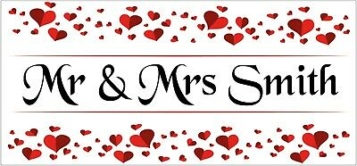 2 PERSONALISED Mr & Mrs Wedding Anniversary Red Ruby Banners Party Decorations • 5.95£