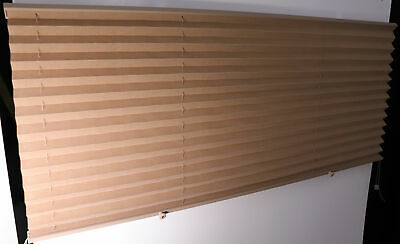 $49.95 • Buy RV Camper Pleated Shade Window Blinds 48  X 25  Tan Sand Curtain