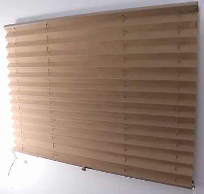 $35.95 • Buy RV Camper Pleated Shade Window Blinds 30  X 25  Tan Sand Curtain