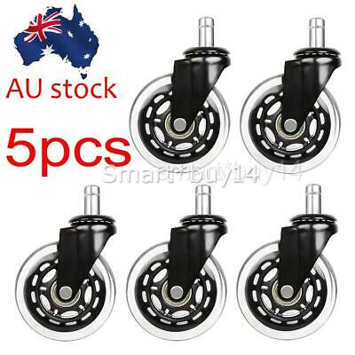 AU32.85 • Buy 3  Rollerblade Office Chair Wheels Replacement Rolling Casters (Set Of 5) Black