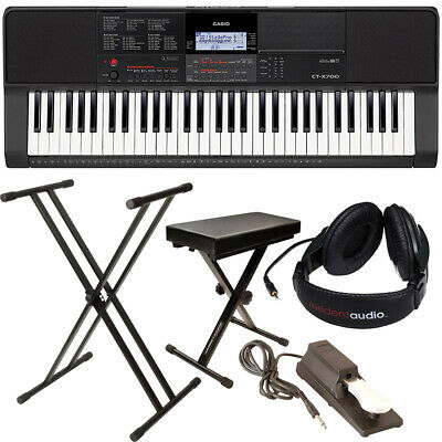 $269.99 • Buy Casio CT-X700 Portable Keyboard Bundle W Stand Bench Sustain Pedal Power Adapter