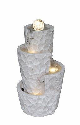 Tuscany Spinning Crystal Ball Cascading Garden Water Feature With LED Lights • 249£