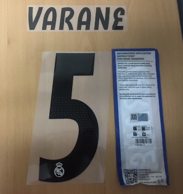 $25 • Buy Sporting Id Official Adidas Real Madrid Home Nameset Print VARANE 5 2018/19