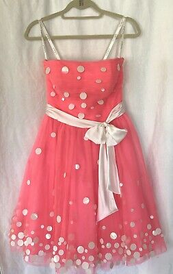 £25.32 • Buy TONY BOWLS 6 Dress Cocktail Dress Pink W/White - Teen Pageant/Prom