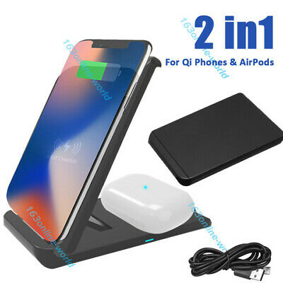 AU28.99 • Buy 3 In1 Qi Wireless Charger Charging Station Dock For Airpods IPhone Apple Watch