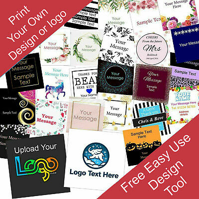£2.99 • Buy Personalised 30mm Square Company/Business Name Labels/stickers, Thank You Seals