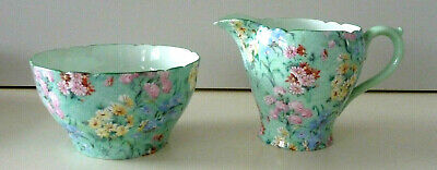 Shelley   Melody,  Fine Bone China Milk Jug And Sugar Bowl. Collect Ws13 • 35£
