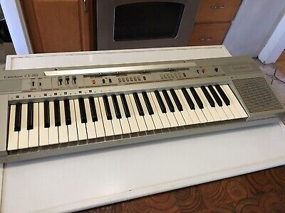 $108 • Buy Vintage Casio Casiotone CT-310 Keyboard Synthesizer 49 Keys + Carry Case