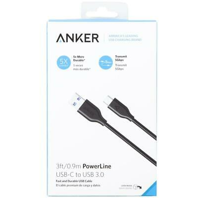 AU17 • Buy Anker PowerLine USB-C To USB 3.0 Data Cable 3ft/0.9m 5GB/s Black Macbook Samsung