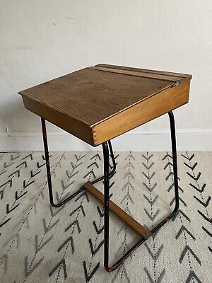 VINTAGE TRIANG CHILDS SCHOOL DESK WITH PAINTED  Metal FRAME • 35£