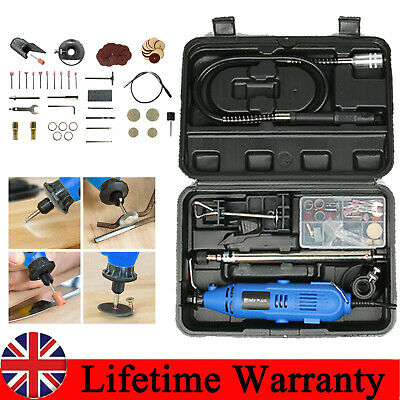 Electric Hobby Rotary Drill Multi Tool Grinder Kit Dremel Accessories 80PC+CASE • 27.55£