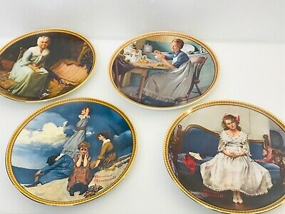 $ CDN12 • Buy 1854 Edwin M. Knowles | Norman Rockwell Collector Plates Fine China Offficial