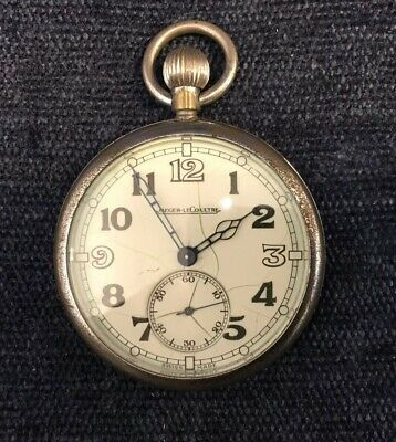 Jaeger Le Coultre WW2 British Military Pocket Watch 6E/50 467/2 • 99.99£