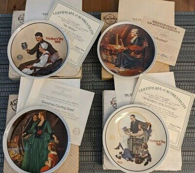 $ CDN18.67 • Buy Limited Edition Mothers Day Plates - Lot Of 4 - By Norman Rockwell - Knowles