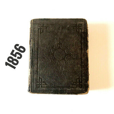 £50 • Buy 1856 Antique Original Holy Bible Old Illustrated Family Bible Religious Book