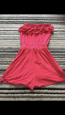 Red Bandeau Playsuit Size 10 • 1.50£