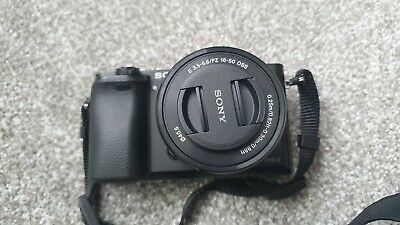 View Details Sony ILCE6000LB Alpha A6000 Mirrorless Camera With 16-50mm Lens - Black • 300.00£