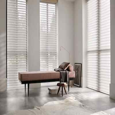 £125 • Buy MOTORISED Blinds Luxaflex Shade Silhouette 6374 Ombre Dream White W850 X H1710mm