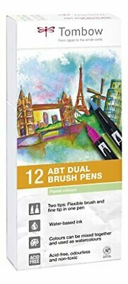 Tombow ABT Dual Brush Pen - Pastel Pack Of 12 • 29.64£