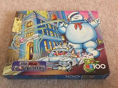 The Real Ghostbusters Jigsaw 1980's Boxed Stay Puft, Slimer, Ecto 1. Complete • 24.95£
