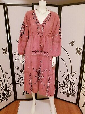 $49.99 • Buy ZARA EMBROIDERED DRESS 6428/024 Pink Marl Size XS, S, L