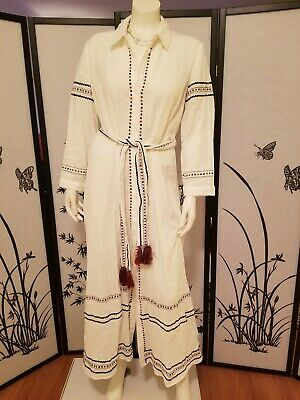 $49.99 • Buy ZARA EMBROIDERED SHIRT DRESS 4786/254 Oyster White Size L