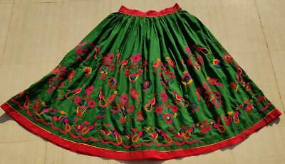 Old Collectible Boho Indian Kuchi Banjara Tribal Ethnic Embroidered Skirt • 3.91£