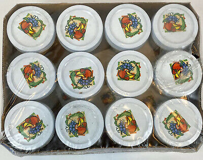 $24.99 • Buy Set Of 12 Vintage Ball Quilted Crystal Jelly Jars 4 Oz. Sealed RARE 14400-80400