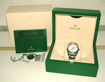AU8999 • Buy ROLEX 36mm DATEJUST STAINLESS STEEL WHITE ROMAN DIAL 116200 OYSTER WATCH