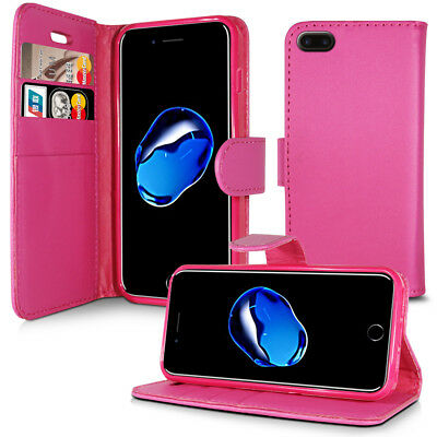 £3.96 • Buy PLAIN PINK LEATHER WALLET BOOK PROTECT PHONE CASE FOR APPLE IPHONE 4 5 6 7 8 & X