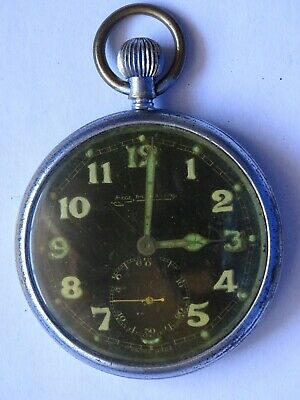 Antique Military WWII Pocket Watch   JAEGER LECOULTRE    • 149.99£