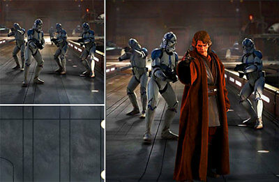 $ CDN92.55 • Buy Poster Backdrop Ships Rolled~star Wars~501 For 1/6 Hot Toys Figure Anakin Mms437