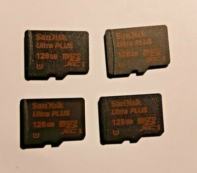 $59.99 • Buy 4x SanDisk 128GB Ultra Plus Micro SD Card 80mb/s = 512gb Authentic Sandisk