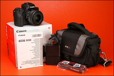 View Details Canon EOS M50 Mirrorless DSLR Camera + EF-M 15-45mm Kit Lens + Battery & Charger • 330.00£