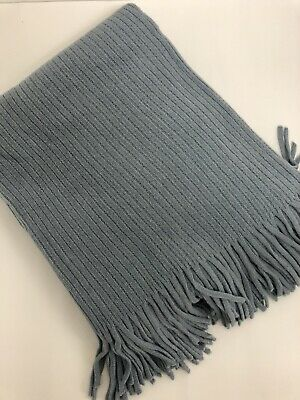 £17.99 • Buy  Large Cable  Knitted THROW BED Throw Lap Throw SNUGLY Blanket Grey Throw