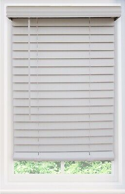 $ CDN90.35 • Buy 2 Inch Cordless Faux Wood Blind - Exact Size & Color - This Blind Will Be