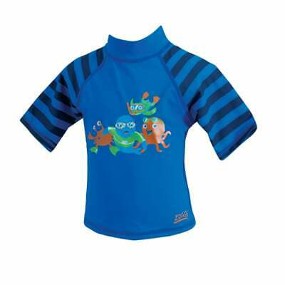 BOYS ZOGGS STRIPED SHORT SLEEVE UPF 50+ PROTECTION SUN TOP AGE 3-6 & 6-12 Months • 2.99£