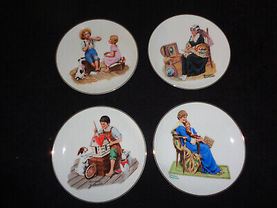 $ CDN12.80 • Buy Set Of 4 6  Norman Rockwell Collector Plates (OAS23)