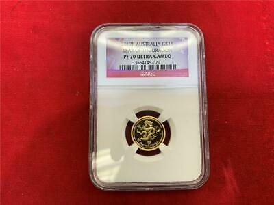 $275 • Buy Australia 2012 $15 Year Of The Dragon 1/10 Oz. .9999  Gold Ngc Pf-70 Ultra Cameo