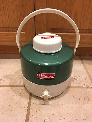 $17.75 • Buy Vintage Green Coleman Water Jug Cooler Thermal Metal Plastic 1 Gallon Euc
