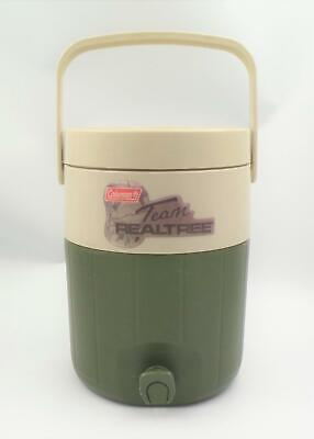 $24.99 • Buy Coleman Team Realtree Water Cooler Thermos Jug 2 Gallon 5592A Green Beige